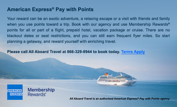 AllAboardTravel is an authorized American Express Pay With Points Agency