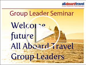 Learn how to be a cruise group leader for free or discounted travel with All Aboard Travel