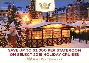 Christmas Time cruises from charming Amsterdam, Budapest and Nuremberg