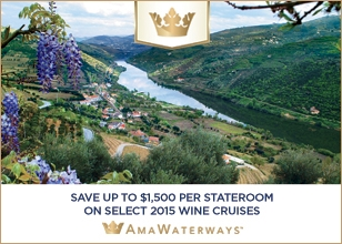 Wine pairings and historic vineyards on legendary Danube, Rhine, Siene, Rhone and Douro rivers
