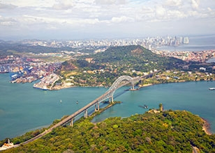 Experience a partial Panama Canal transit roundtrip from Miami!