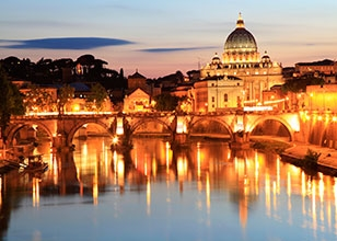 Nights in Rome, a peaceful Atlantic crossing, followed by 3 highlights of the Caribbean
