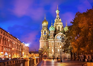 Sail to historic Northern Europe cities on your way to St. Petersburg, Russia.