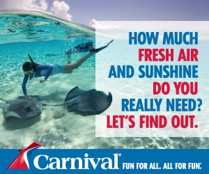Any time is a good time for a Carnival cruise!  Are you ready?