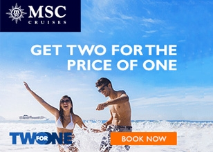 Book by 3/31/17 and cruise from $349 per person for a 7-night cruise on MSC Cruises.