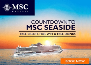 Reserve your spot in history for only $49 per person and sail on the new MSC Seaside!