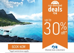 Up to 30% off* on select Princess Cruises departures.