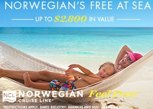 Book by June 1, 2017 for the latest NCL Free At Sea offer if you book an oceanview or higher.