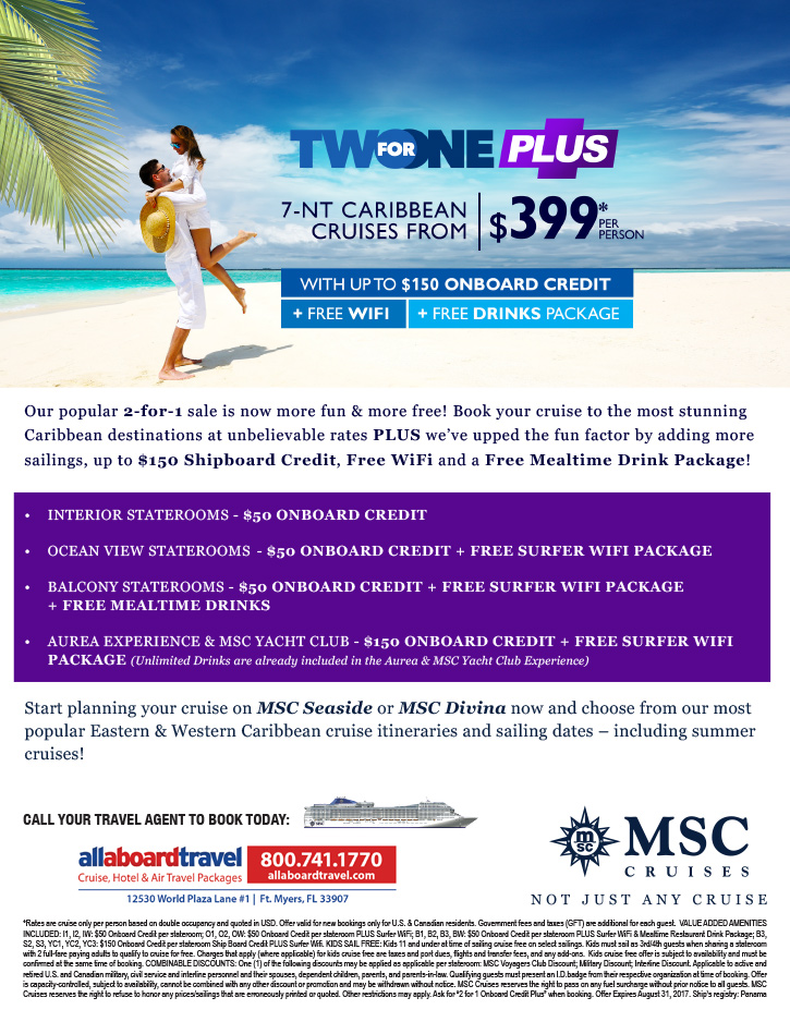 MSC Two For One Plus